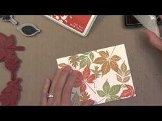 A Video by Jennifer McGuire for Simon Says Stamp Showing How She Made her Fall Hello Card.  September 2013