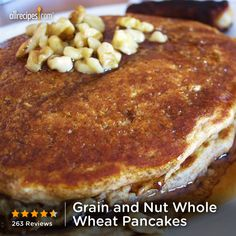 """Grain and Nut Whole Wheat Pancakes 