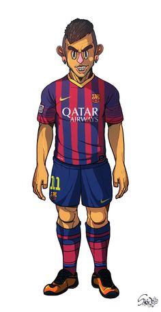 Neymar FC Barcelona / Real Madrid by Sakiroo Choi, via Behance