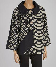 This Black & Taupe Geo Jacket - Women by Cupcake International is perfect! #zulilyfinds