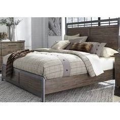 For a modern industrial showpiece in your bedroom, introduce the Liberty Furniture Industries Sonoma Road Panel Bed into the mix. This panel bed. Living Furniture, Bedroom Furniture, Furniture Sets, Royal Furniture, Cheap Furniture, Mirrored Furniture, Furniture Nyc, Furniture Outlet, Online Furniture