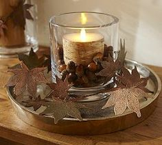 Fall Home Decor: Design tips and autumn decorating ideas. Find information and tons of fall decor curated by interior designer Tracy Svendsen. Thanksgiving Decorations, Seasonal Decor, Christmas Decorations, Thanksgiving Table, Thanksgiving Dinnerware, Candle Decorations, Fall Table, Fall Home Decor, Autumn Home