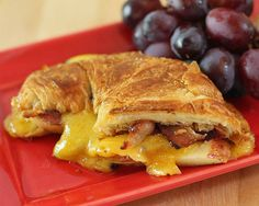 Apple, Pancetta, and Sharp Cheddar Grilled Croissant Recipe (Photo courtesy of Barbara Kiebel)