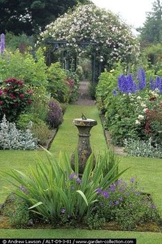 summer borders and grass paths