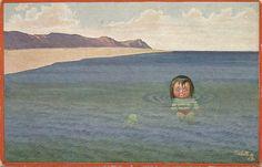 1913 German backed 'Tuck' post card(artist: H.S.B. (Herbert Schultz, Berlin)) un-used & 'NEPTUN JUNIOR ' series # 937 by BrickorBrack on Etsy