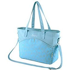 BlueBaby Diaper Bag Multi-function Large Mummy Messenger shoulder Bag Diaper Tote Baby Bag (Blue-03)