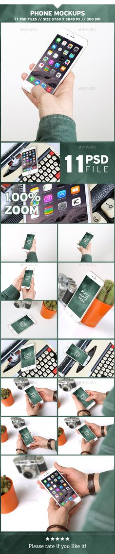 Phone Mockups — Photoshop PSD #display #mock-up • Available here → https://graphicriver.net/item/phone-mockups/19654284?ref=pxcr