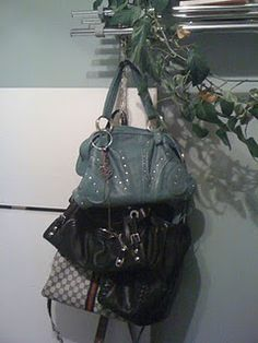 DIY Purse Chain using old chain and shower hooks!