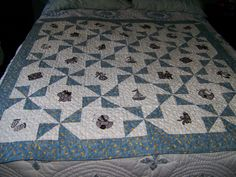 Blue and Brown Baby Quilt Special Order