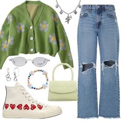 Instagram Kpop Fashion Outfits, Indie Outfits, Retro Outfits, Cute Casual Outfits, Stylish Outfits, Vintage Outfits, Mode Kpop, Looks Cool, Polyvore Outfits