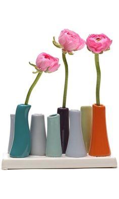 Chive, Pooley 2, 8-Tube, Orange  Vase Best Price