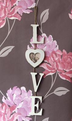 Hanging 'Love' word with heart photo frame £7.45