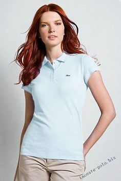 32691aaf46 Brand New Authentic Factory Overrun Lacoste Women's Short Sleeve  Non-stretch Pique Polo Color: Light Blue Php
