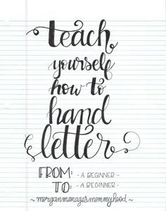 Teach Yourself How to Hand Letter | Scrapbooking | CraftGossip | Bloglovin'