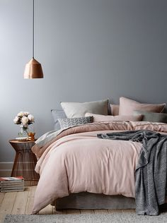 Home Republic vintage washed linen queen quilt cover and standard pillowcase, Adairs, www.adairs.com.au