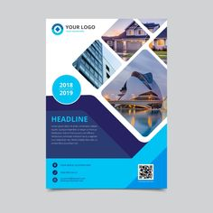 Business flyer template Free Vector Business flyer brochure, with Logo. Powerpoint Design Templates, Free Flyer Templates, Business Flyer Templates, Brochure Template, Brochure Cover Design, Graphic Design Brochure, Brochure Layout, Corporate Brochure, Free Brochure