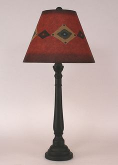 Round Buffet Lamp with Southwest Shade