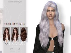 Sims 4 Mods Clothes, Sims 4 Clothing, Sims 4 Cas Mods, Sims 4 Black Hair, The Sims 4 Cabelos, Pelo Sims, Black Girls Hairstyles, Female Hairstyles, Sims 4 Collections