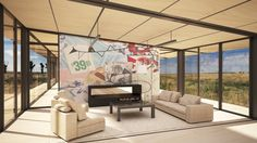 The Billboard House by David Salle w/ AA Studio - Revolution Precrafted Prefab, Billboard, Collaboration, Revolution, David, Interiors, Spaces, Interior Design, Studio