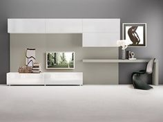 Wall Unit System For Your Dynamic Living Room Ikea Tv Wall Unit, Living Room Wall Units, Living Room Modern, Wall Unit With Desk, Front Room Design, Tv Wall Design, Interior Design Living Room, Living Room Designs, Tv Wanddekor