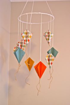Paper Kite Mobile... for my kids one day :)