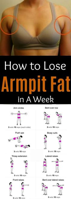 Arm Pit Fat Workout, Hip Workout, Fat Burning Workout, Arm Workouts, Exercises For Hip Fat, Skinny Arms Workout, Tummy Workout, Training Workouts, Circuit Training