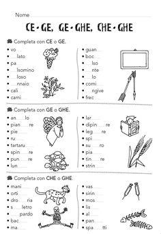 Italian Grammar, Italian Words, Italian Language, Writing Practice Worksheets, Worksheets For Kids, Italian Courses, Italian Lessons, Montessori Math, Learning Italian