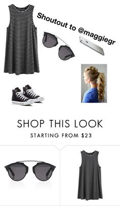 """""""Shoutout time"""" by fashionuber ❤ liked on Polyvore featuring Christian Dior and Converse"""