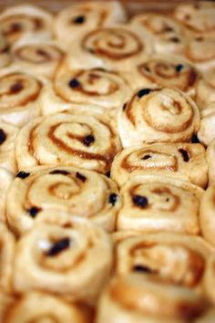 LOVE this recipe with cream cheese frosting. Homemade Cinnamon Rolls. I use 1T. of Cinnamon instead of 3.