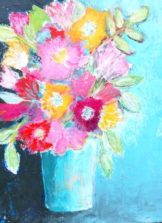 """""""Blue Vase"""" Betty Krause Art 