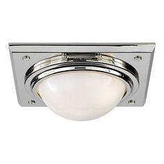 Wainscott Small Flush Mount - Polished Nickel - Ceiling Fixtures - Lighting - Products - Ralph Lauren Home - RalphLaurenHome.com
