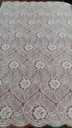 Beige lace fabric French lace Chantilly lace Bridal by LaceToLove