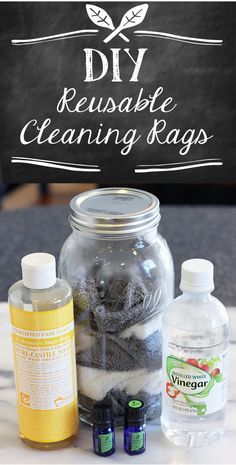 These reusable cleaning rags are ready to tackle messes as soon as they appear!