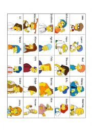 English worksheet: Simpsons´ Guess Who Game