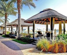 Get cozy in our cape reed outdoor cabana by the beach at Sofitel The Palm & Resort! Outdoor Cabana, Outdoor Gazebos, Outdoor Spaces, Outdoor Living, Outdoor Structures, Thatched House, Thatched Roof, Modern Gazebo, Resort Plan