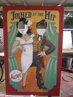 Tribe member Gypsy Marie, aka. Cutiebookworm, and friends, have created some old-timey carnival cutouts for their October wedding. They used a book of circus art for inspiration and came up with these babies…