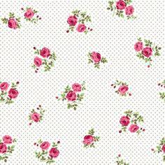 Tkanina kwiaty róże różyczki beż szary - cena 17 zł