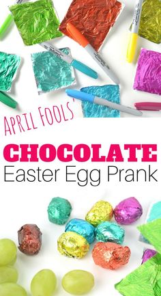 April Fools' Day Joke -Chocolate Easter Egg Swap