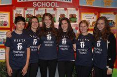 From left, Adam Faze, Ashli Marino, Marlee Galper, Becca Madnick, Erin Orbach and Rachel Lohmann volunteer with the Inspired Teens program at Vista Del Mar.