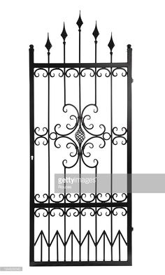 Stock Photo : Gate Isolated