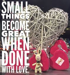 Small things become great when done with love. Happy Wishes, Wish Quotes, Small Things, Christmas Bulbs, Rabbit, Love, Holiday Decor, Crochet, Amigurumi