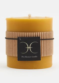 Chicago Honey Co-op Beeswax Pillar Candle | www.rodales.com