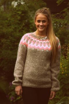 Icelandic Sweater Lopapeysa Hand knit Pure Wool by pureIceland, $175.00