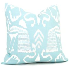 Add a Pop O Aqua to your room with the whimsical bird. Great fabric designed by China Seas for Quadrille. It is a soft aqua on a white background. The