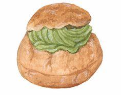 Salmon Bagel Mandie's Food Illustration Art Print by mandiekuo