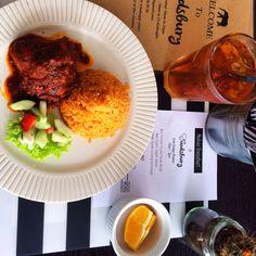 #lunch nasi tomato & ayam masak merah. jemput.