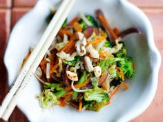 Tofu, Japchae, Healthy Recipes, Healthy Food, Salads, Good Food, Curry, Cooking, Ethnic Recipes
