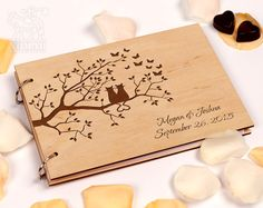 Wedding guest book Custom guest book Rustic guestbook Wooden guest book Lover of Cats Laser Engraved Anniversary guestbook Wedding guestbook by GuestBookShop on Etsy https://www.etsy.com/listing/491782520/wedding-guest-book-custom-guest-book