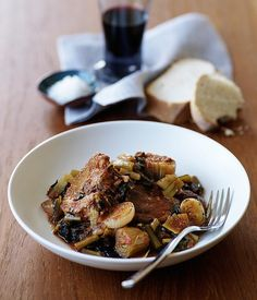 A one pot recipe from Australian Gourmet Traveller for braised lamb with chicory.