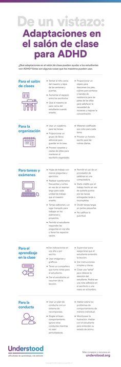 Las adaptaciones que ayudan a los estudiantes con TDA y TDAH